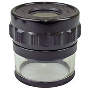 """Peak TS1983 Full Focus Scale Loupe, 10X Magnification, 0.8"""" Lens Diameter, 1.1"""" Field View"""