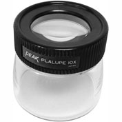 "Peak TS2032 Fixed Focus Loupe, 10X Magnification, 1"" Lens Diameter, 1.10"" Field View"