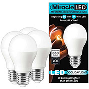 MiracleLED 604725 Affordable Household Bulb, A19, 9W, 4 per package