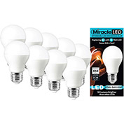 MiracleLED 604749 Household Bulb, A19, 9W, 10 Pack
