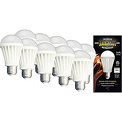 MiracleLED 604755 LED Bulb, A19, 12W, Package of 10