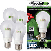 MiracleLED 604758 Grow Room Specialty Light Bulb, A19, 6W, 4-pack