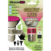 MiracleLED® 605035 Red And Blue Grow Bulb, 6W