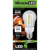 MiracleLED® Un-Edison Clear Daylight A19 Bulb, 5W