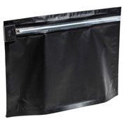 "Sealer Sales Small Child Resistant Bag, 6.69"" x 4"" x 2.36"", Black, 50pcs"