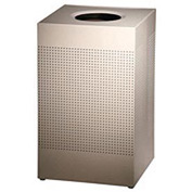 Rubbermaid® Silhouette SC18E Square Open Top Receptacle w/Plastic Liner, 29 Gal - Desert Pearl