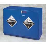 "22x2.5 Liter, Under-the-Counter Corrosive Cabinet, Fully Lined, Left Hinge, 23""W x 22""D x 35-1/2""H"