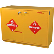 "32 Gallon, Under-the-Counter Flammable Cabinet, Flame Arrestors, Manual Close,35""W x 22""D x 35-1/2""H"
