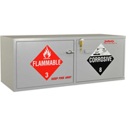 "Stak-a-Cab™ Combo Acid (10x2.5 Liter)/Flammable (10x1 Gal.) Cabinet, Manual Close, 47""x18""x18"""