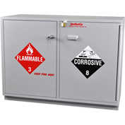 Acid (24x2.5 Liter)/Flammable (24x1 Gal.) Cabinet, Fully Lined, Self-Closing, 47 x 22 x 35-1/2