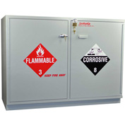 Under-the-Counter Acid (24x2.5 Liter)/Flammable (24x1 Gal.) Cabinet, Manual Close, 47 x 22 x 35-1/2