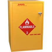"30 Gallon, Floor Flammable Cabinet, Manual Close, 23-7/8""W x 23-7/8""D x 36-5/8""H"