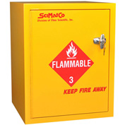 "6 Gallon, Bench Flammable Cabinet, Manual Close, 16-3/4""W x 15-3/4""D x 21-1/4""H"