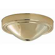 Satco 90-051 Plain Deep Fixture Canopy - Brass Finish  7/16-in. Center Hole Depth