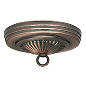 Satco 90-054 Ribbed Canopy Kit - Antique Copper Finish  7/16-in. Center Hole