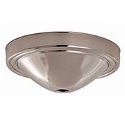 Satco 90-061 Plain Deep Fixture Canopy - Chrome Finish  7/16-in. Center Hole Depth