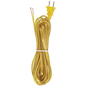 Satco 90-103 15 Ft. Cord Set, 18/2 SPT-2, Clear Gold