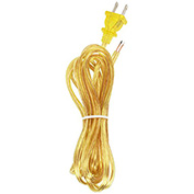 Satco 90-1416 12 Ft. Cord Set, 18/2 SPT-2, Clear Gold