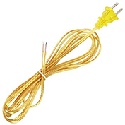 Satco 90-1526 8 Ft. Cord Set, 18/2 SPT-1, Clear Gold