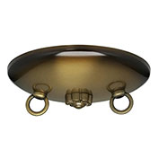 Satco 90-191 Bath Swag Canopy Kit - Antique Brass Finish