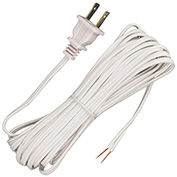 Satco 90-2033 12 Ft. Cord Set, 18/2 SPT-1, White