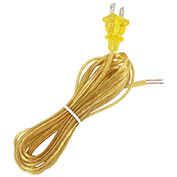 Satco 90-2036 12 Ft. Cord Set, 18/2 SPT-1, Clear Gold