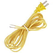 Satco 90-2038 9 Ft. Cord Set, 18/2 SPT-2, Clear Gold