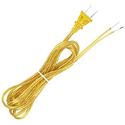 Satco 90-2043 8 Ft. Full Tinned Cord Set, 18/2 SPT-2-105-#176;C, Clear Gold