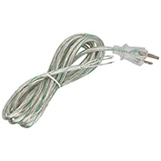 Satco 90-2312 10 Ft. Heavy Duty Cord Set 18/3 SJT -105-#176;C, Clear Silver