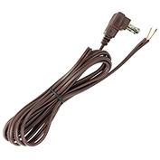Satco 90-2324 8 Ft. Flat Plug Cord Set 18/2 SPT-2-105-#176;C, Brown