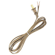 Satco 90-2392 8 Ft. Cord Set, 18/2 SPT-1, Metallic Gold