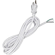 Satco 90-2413 10 Ft. Heavy Duty Cord Set 18/3 SJT -105-#176;C, White