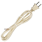 Satco 90-2416 7 Ft. Cord Set, 18/2 SPT-1, Ivory