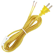 Satco 90-723 8 Ft. SPT-2 Cord Set with Line Switch, Clear Gold
