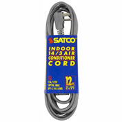 Satco 93-5003 #14/3 Ga. SPT-3 Gray Air Conditioner / Appliance Cord - 12 Ft.