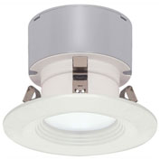 "Satco S9128 7W LED Downlight Retrofit 3"" Baffle Miniature 2 Pin Round Base 3000K 12V Dimmable"