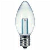 Satco S9156 0.5W LED C7 Night Light Bulb Candelabra Base Clear 2700K
