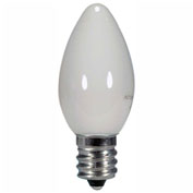 Satco S9157 0.5W LED C7 Night Light Bulb Candelabra Base White 2700K