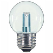 Satco S9158 1.4W LED G16 1/2 Globe Medium Base Clear 2700K