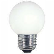 Satco S9159 1.4W LED G16 1/2 Globe Medium Base White 2700K