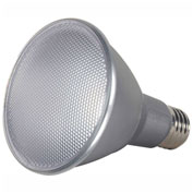 Satco S9432 13W PAR30 Long Neck LED 40' Beam Spread Medium Base 3500K Dimmable IP65