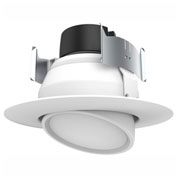 "Satco S9464 9W 4"" Gimbaled Directional LED Downlight Retrofit 40' Beam Spread 3000K Dimmable"