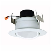 "Satco S9473 9W 5"" 6"" Gimbaled Directional LED Downlight Retrofit 90' Beam Spread 3000K Dimmable"