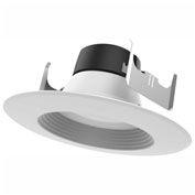"Satco S9477 18W 5""6"" LED Downlight Retrofit 4000K Dimmable"