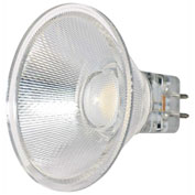 Satco S9552 3W LED MR16 LED 40' Beam Spread GU5.3 Base 3000K 12V