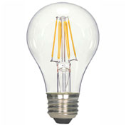 Satco S9562 6.5W FilamentA19 LED Medium Base Clear 2700K