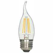 Satco S9573 4.5W C11 Filament LED Turn Tip Medium Base Clear 2700K