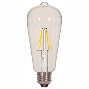 Satco S9581 6.5W ST19 Filalment LED Clear Medium Base 2700K