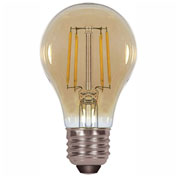 Satco S9583 4.5W A19 Filalment LED Amber Medium Base 2200K