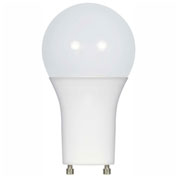 Satco S9842 9.5W A19 LED 220' Beam Spread GU24 Base, 4000K, 850 Lumens, Dimmable